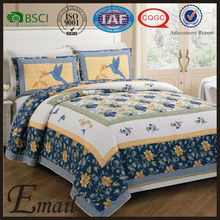 Kantha brand China wholesale cotton print pattern bedspread bedding set quilt