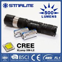 STARLITE Top quality retro switch 200lm/280m mechanically powered flashlight