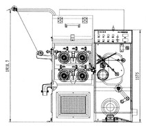 24DS fine fil de cuivre dessin machine - type vertical