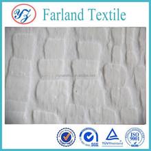 Plush fleece fabric plain white viscose fabric single sided knit fabric