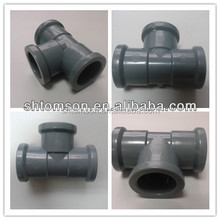 grey rubber ring joint fittings for tee sch40/sch80