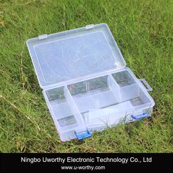 Transparent Plastic Storage Case with Detachable 8 Compartment