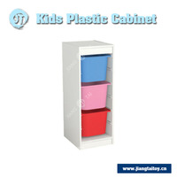 JT-2108 daycare center furniture kids toy plastic storage cabinet