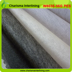 polyester non woven interlining garment double dot adhesive interlining thermal bond non woven interlining