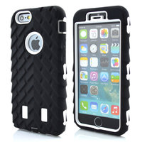 3 in 1 Robot Tyre Hybrid Tyre Silicon Case For iphone 6 4.7