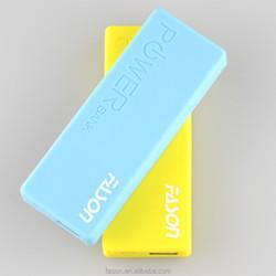 Portable polymer power bank 3000mah real capacity 7 colors choice
