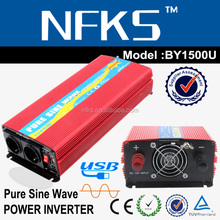 2000W power inverter car battery Pure sine DC 12V to AC 220V 110V USB