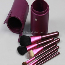 Top Quality 7pcs in 1set purple makeup brushes carry conveniently cosmetic brush