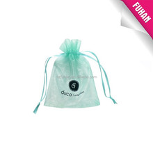 Fashionable Customized Popular design shape printed organza bags with drawstring