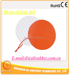 Silicone Rubber 3D Printer Heater 230v 600w Diameter 390*1.5mm 3M adhesive 100k thermistor 1000mm lead wire XD-H-D-1133