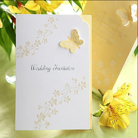 Customized wedding card with glitter