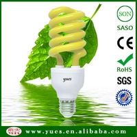 colored T4 18W Half Spiral saving energy lamp tube 10000H CE QUALITY