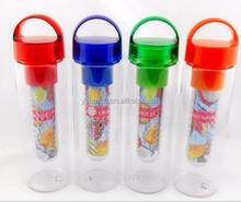 Clear tritan plastic infuser water bottles