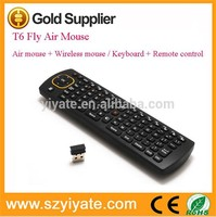 T6 2.4g Wireless air Mouse Keyboard Universal Fly mouse for Android tv box TV and IPTV air fly mouse