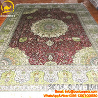 9x12ft TOP TURKEY series 230 Lines wool and silk rug hand knotted kashmir silk carpet persian carpet export