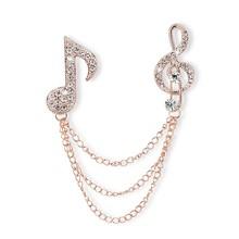 2015 New Arrival Jewelry Broche Trendy Top Fashion Titanium Semi-precious Brooches For Women Of Music Note Shape 033