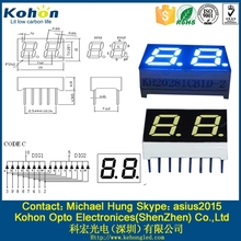 Size Various 7 segment display led 2015 China Video led dot with 2 digits