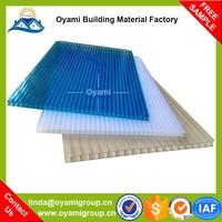 Triple wall lasting color plastic casting polycarbonate