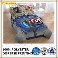 Captain America printing bedding sets soft comforter polyester microfiber fabric