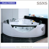 Sex design 2 person indoor hot tub with glass massage function