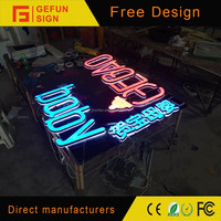 Attractive price frontlit and backlit channel letters with leds effects
