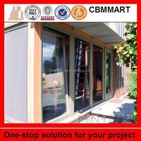 2015 new design double glazed aluminum sliding window and door