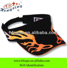 Flames wholesale promotional fashion custom visor cap
