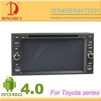 6.95 inch android 4.0 car 2 din dvd for toyota made in china