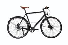 High End Retro Style 700C 8 Speed and Dynamo Hub Belt Drive Alloy City Bike