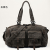 Dark grey 16oz canvas smart fashion travel bag