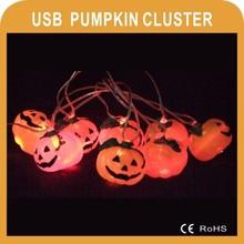 Halloween Decoration color USB LED pumpkin cluster