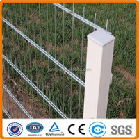 Double wire mesh fence panel with 8/6/8 and 6/5/6