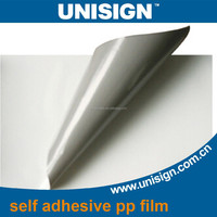 matte/glossy self adhesive sticker PP Synthetic Paper rolls
