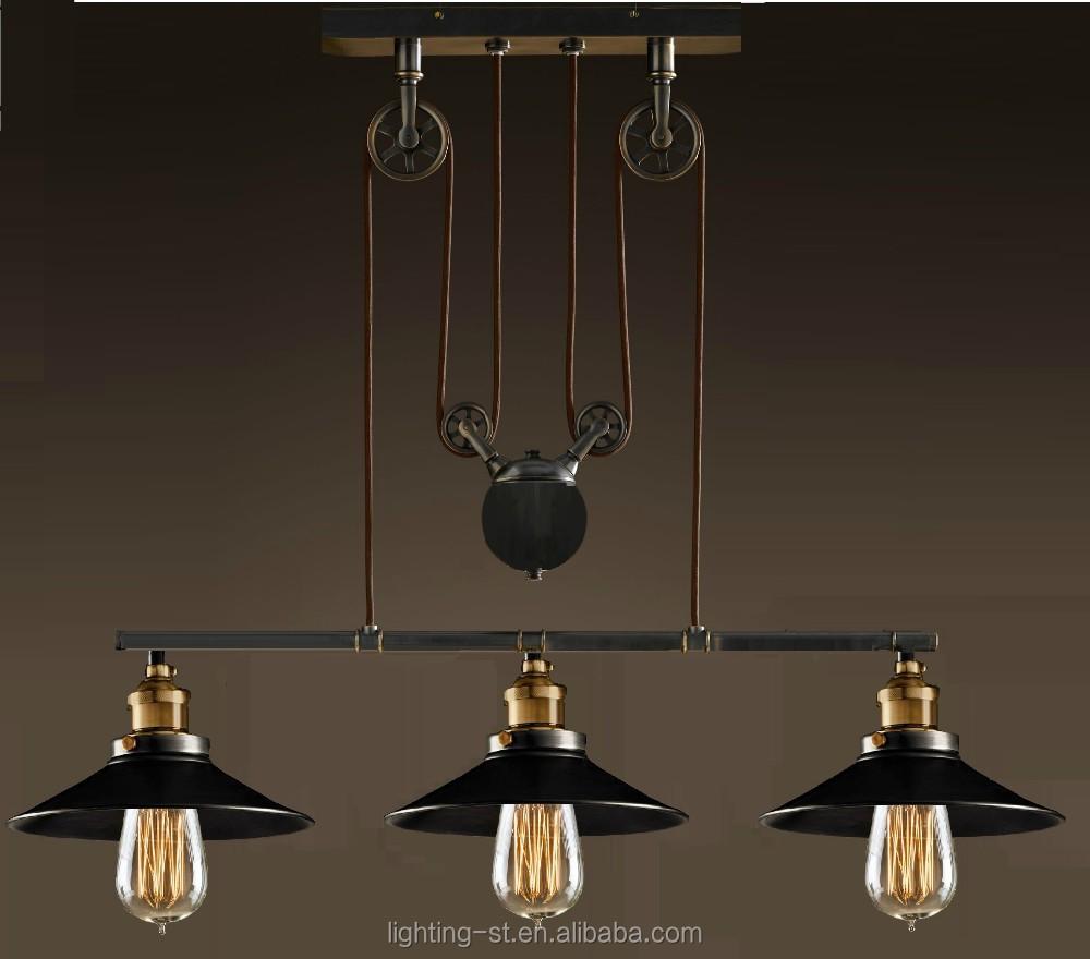 lights in pulley block design morden simple home ceiling light fixture. Black Bedroom Furniture Sets. Home Design Ideas