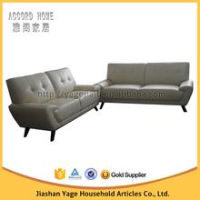 Modern designs stationary loveseat leather sofa set for living room furniture