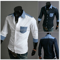 2014 Wholesale New Fashion Casual cheap slim fit shirts Leisure styles men t shirts for men