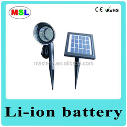 Energy saving outdoor solar garden path light glass brick with motation sensor