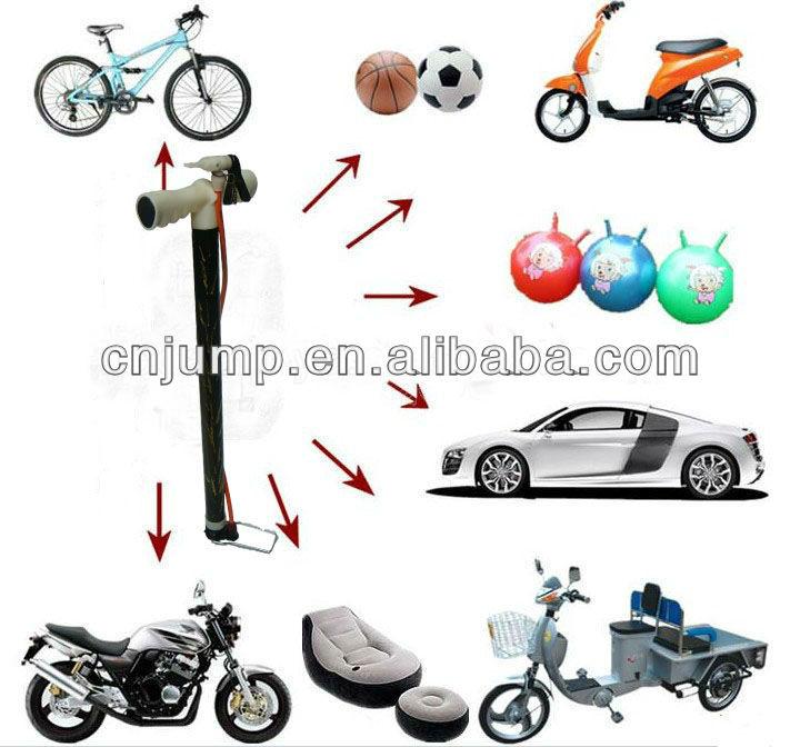 Plástico mano de la alta aire para inflar con aire para o bicicletas