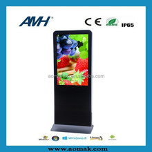 """cheapest price hot selling 42"""" Floor Standing Advertising Display for shopping mall ,museum"""