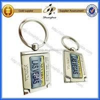 Low price high quality custom hourglass keychain