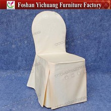 Wholesale new design cheap cotton and polyester chair cover for weddings YC-856-09