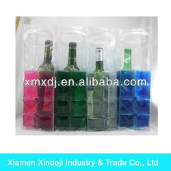 Hot Sale Promotional Gel PVC Bags for Beer Bottle XMXDJ-IB45