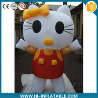 2015 hot sale inflatable lovely kitty cat cartoon / inflatable mascot