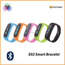Waterproof silicone smart bluetooth watch e02 health smart bracelet