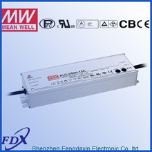 Original Meanwell waterproof LED driver HLG-240H-24A,5 years warranty,UL,PSE,CE,CB,TUV certificates,with PFC
