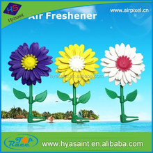 Long lasting fragrance Sun flower car vent clip air freshener