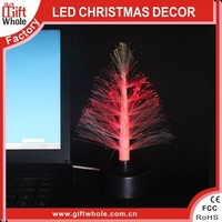 New design Christmas tree model color small night lights fiber optic Christmas light