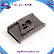 Special Two Layer Engraved Logo Gunmetal Belt Buckles for Men