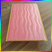 Red PVC Film Coated Wall Plastic Decorative Panels, Plastic Film Faced Plywood, PVC Wall Panel