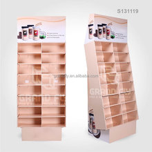 S131119-1 Cardboard Retail Floor Display with Cells for Coffee Cups
